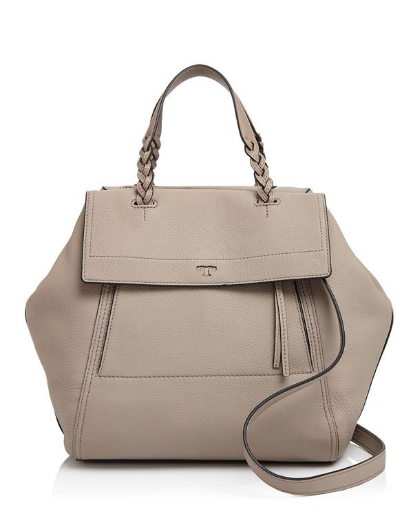 d1a4cd7adaf Tory Burch unveils an irresistible new shape with this convertible satchel  that looks chic from all angles. Braided top handles and rich leather  complete ...