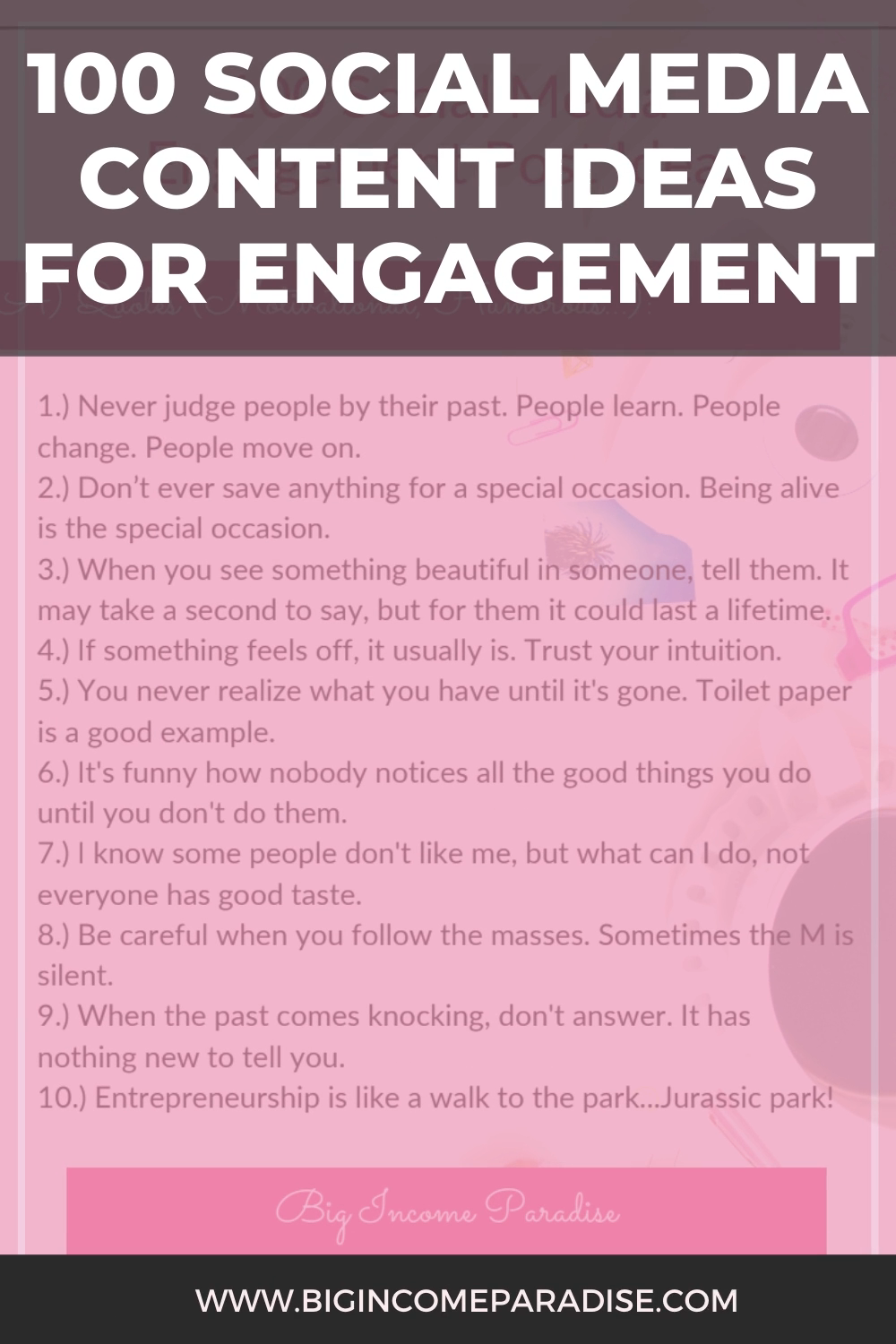 100 Social Media Content Ideas For Engagement