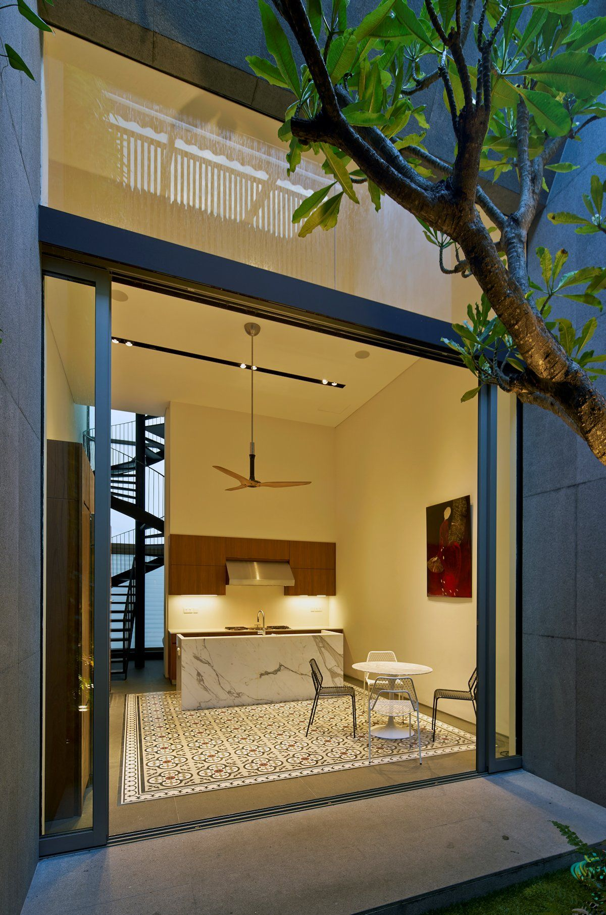 Renovated shophouse into modern family home in