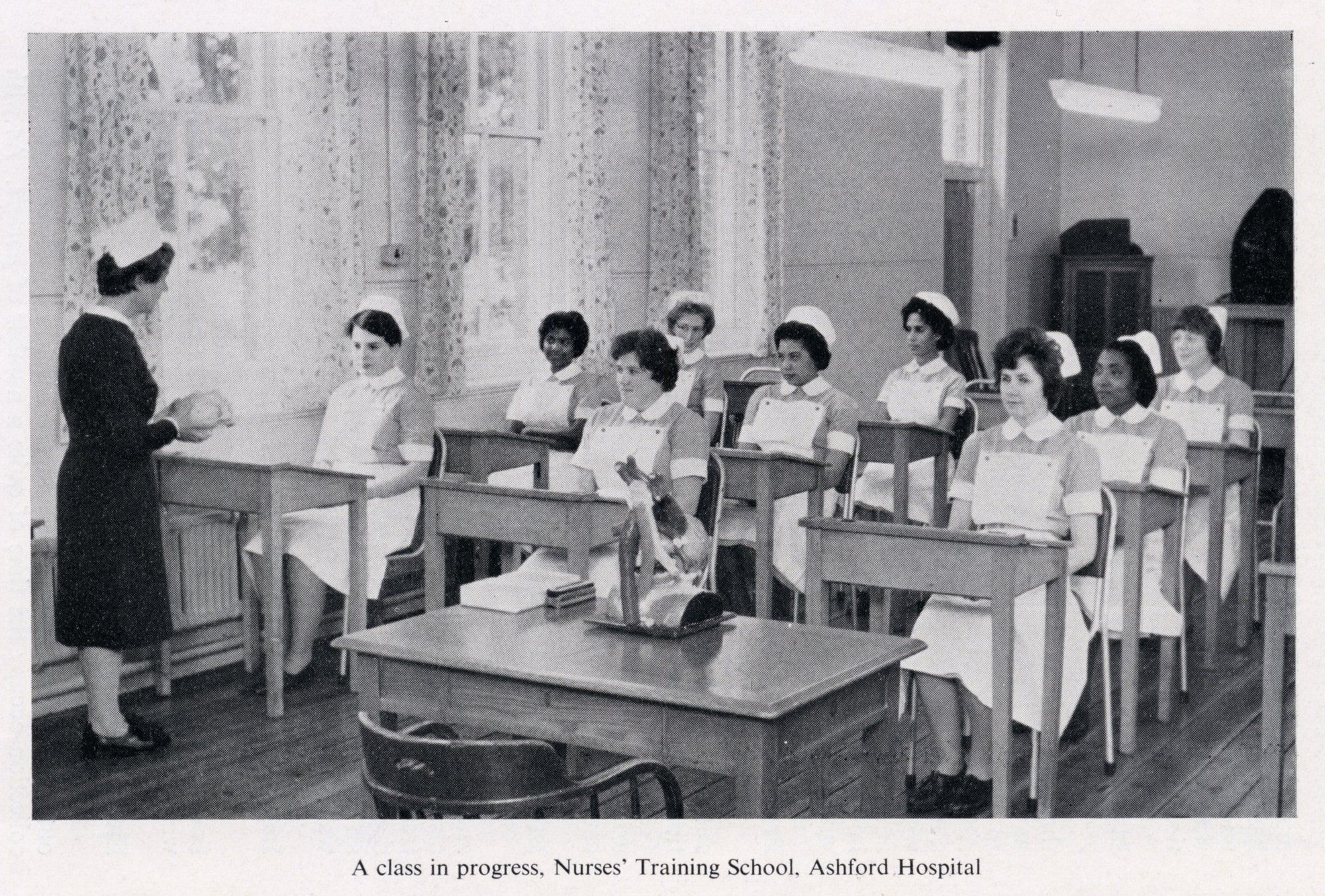 Nurse's training school class Ashford Hosp. Loved my time here in the 60`s.