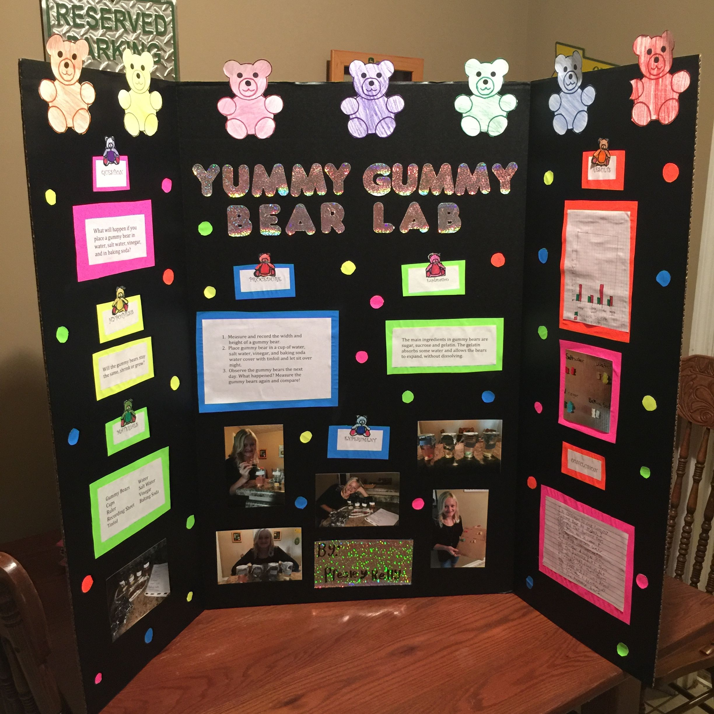 Our 4th Grade Science Fair Project Yummy Gummy Bear Lab Lots Of Fun And Placed In The Top 3 In