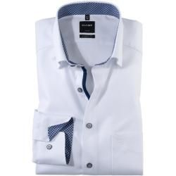 Photo of Olymp Luxor shirt, modern fit, under-button-down, white, 37 Olymp