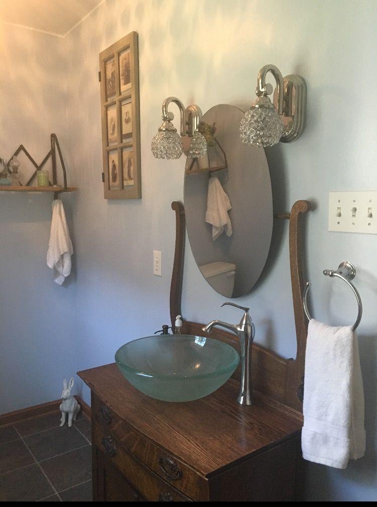 diy distressed bathroom vanity%0A DIY Antique Washstand Bathroom Sink