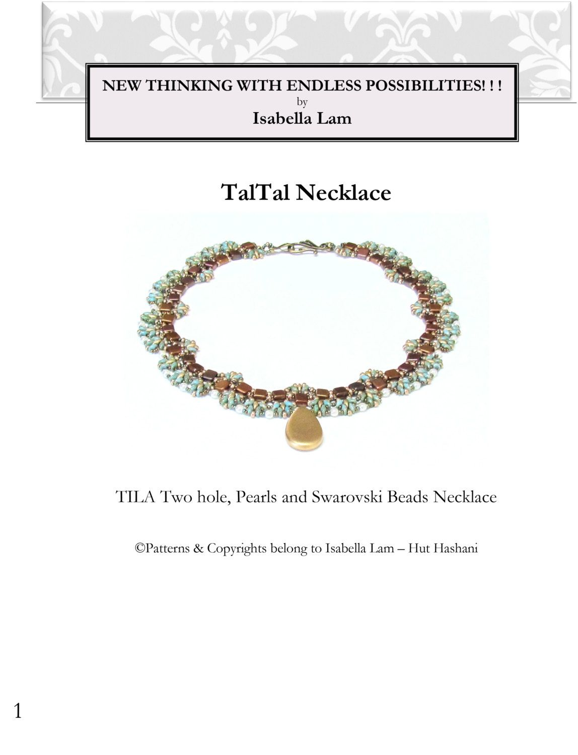 TalTal SuperDuoand Czech Mates Beadwork Necklace Pdf by bead4me