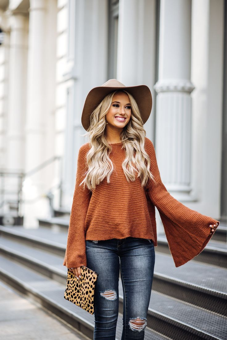 orange fall sweater | Fashion Must Haves | Pinterest | Lifestyle ...