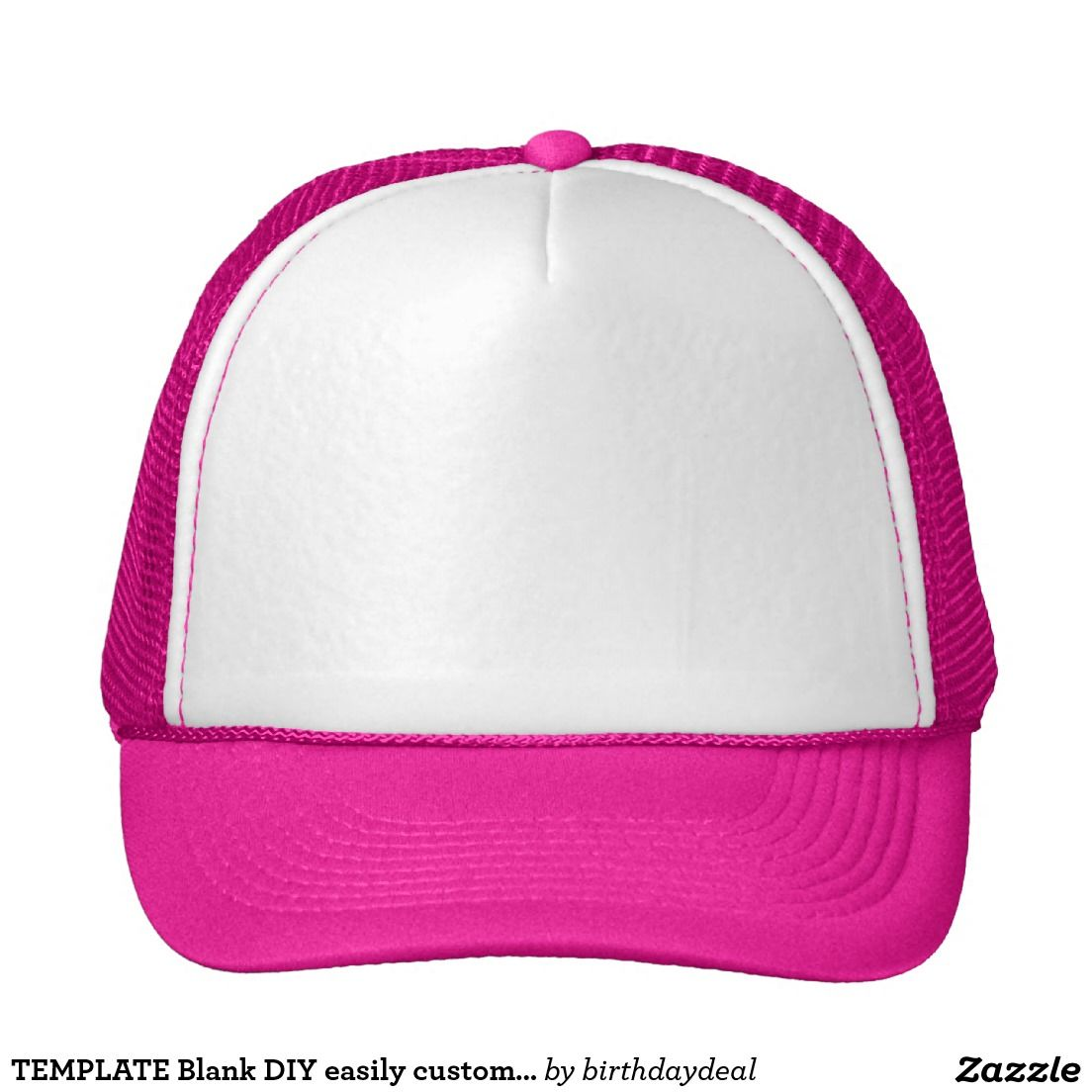 TEMPLATE Blank DIY easily customize add TEXT PHOTO Trucker Hat | 101 ...