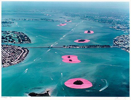 Christo United, Surrounded Islands, Biscayne Bay, Miami, 1980-83