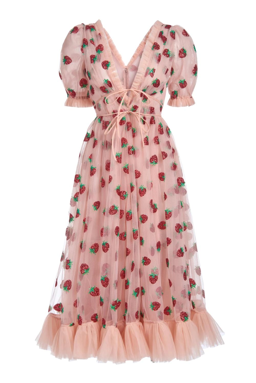 Strawberry Midi Dress In 2020 Turner Dress Fashion Midi Dress [ 1498 x 1000 Pixel ]