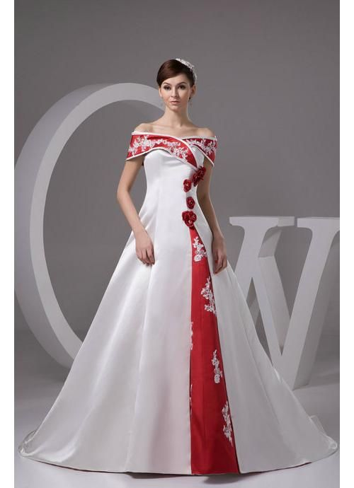 Top pick. Love the portrait neckline, flowers on bodice, and