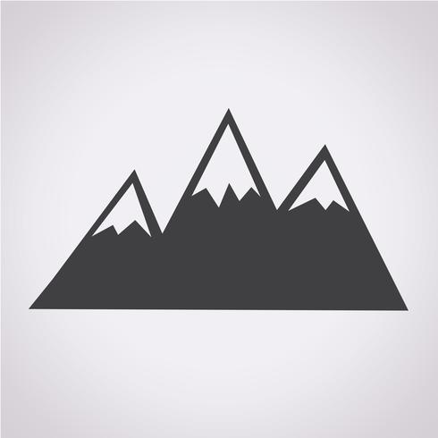 Mountains Icon Symbol Sign Free Vector Illustration Circle Logo Design Lantern Illustration