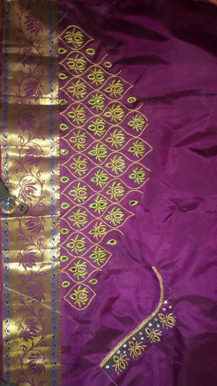 Pin by lilysha rani on heavy maggam work blouses pinterest bridal sarees saree blouse embroidery designs embroidery patterns bankloansurffo Images