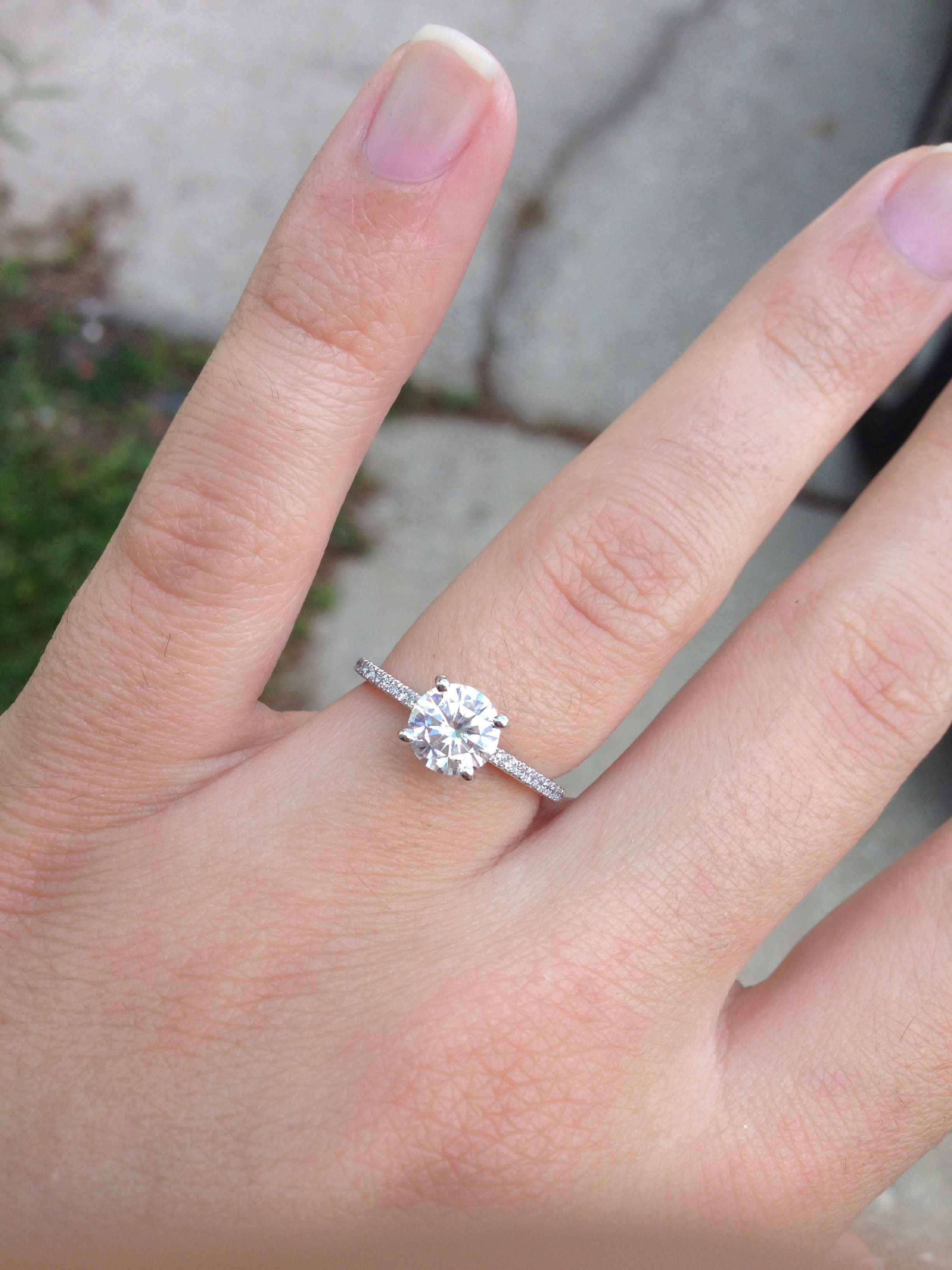 moissaniteco.com eng245a-FB | Jewelry ideas | Pinterest | Engagement ...