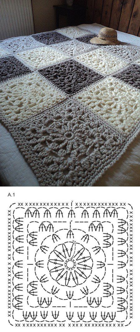 Knitulator sucht #Häkelideen: #Häkeldecke aus #GrannySquares Pretty granny blanket ~k8~