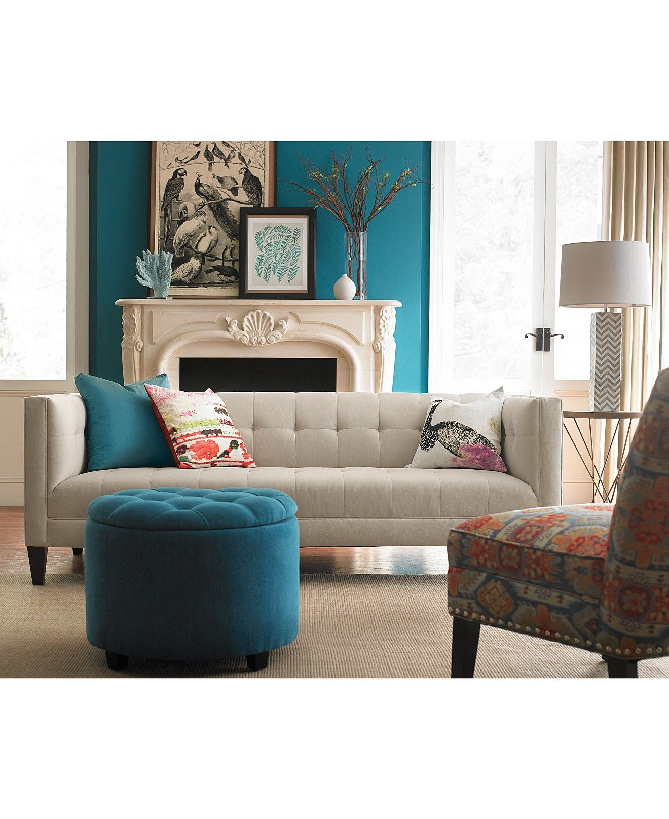 briel tufted tight back seat sofa collection furniture macy s rh pinterest com