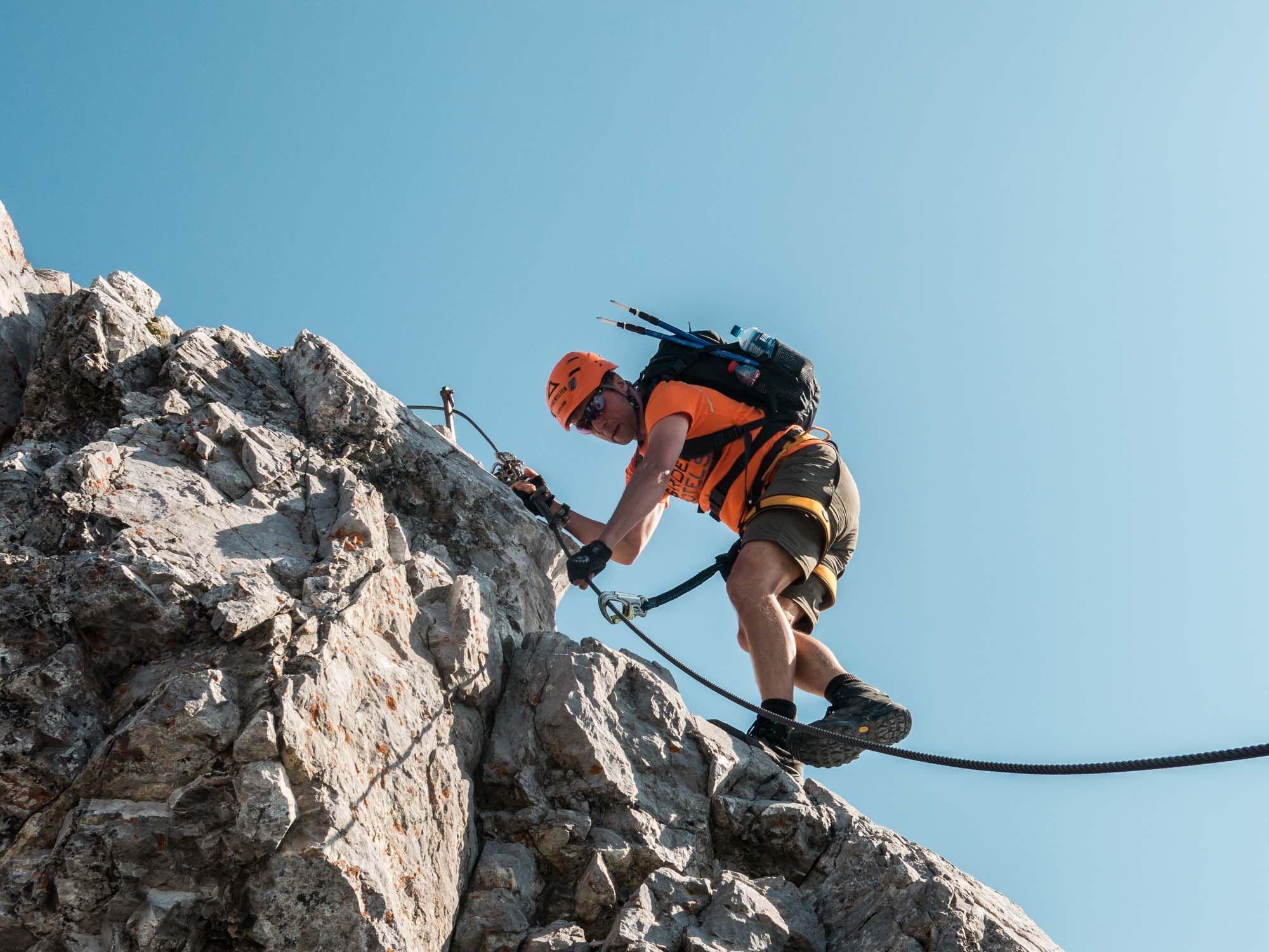 Klettersteigset Watzmann : Leichte aber ausgesetzte klettersteigpassagen auf der watzmann