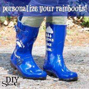 Diy show off rain boot design tutorials and rain decorate your rain boots diy show off diy decorating and home improvement solutioingenieria Choice Image