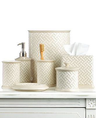 Martha Stewart Collection Bath Accessories Basketweave Toothbrush Holder Bathroom Buy