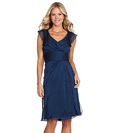 Adrianna Papell Chiffon Dress Dillards Mother Of The Groom Dress