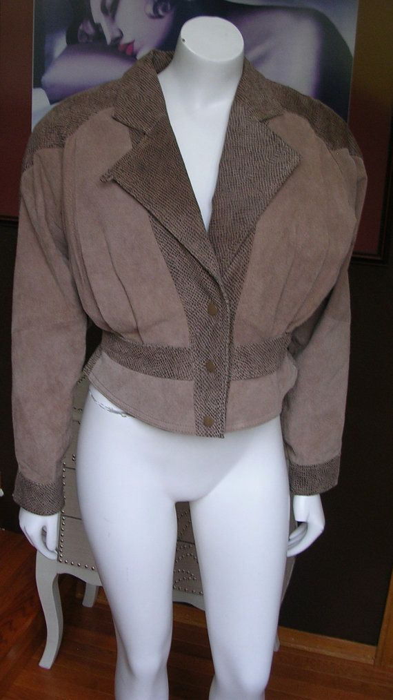 1980 Gray Suede Short Jacket by Byrnes and Baker Thinsulate Size Small by WestCoastVintageRSL, $38.00