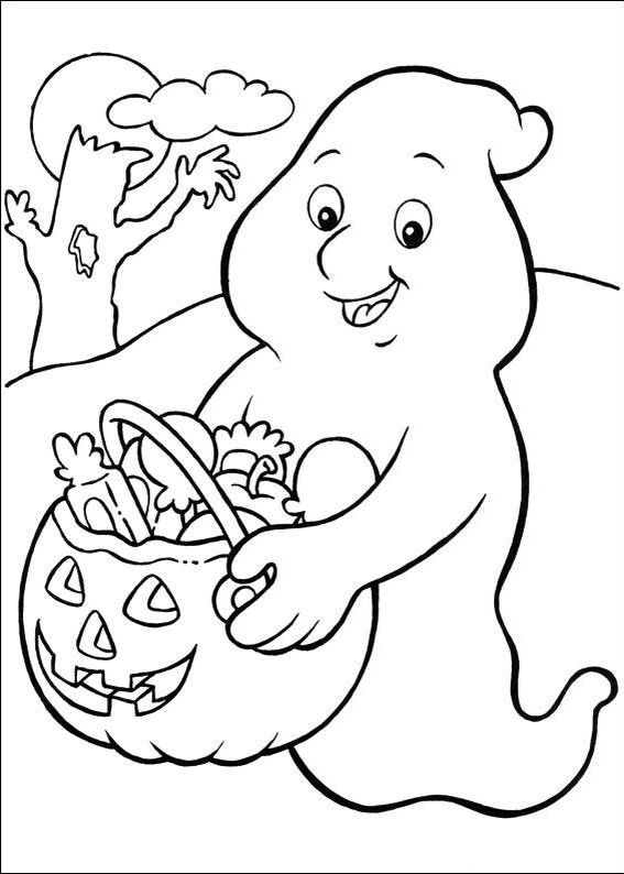 Ghost coloring page | Halloween/St Patrick\'s Printable\'s For Kids ...