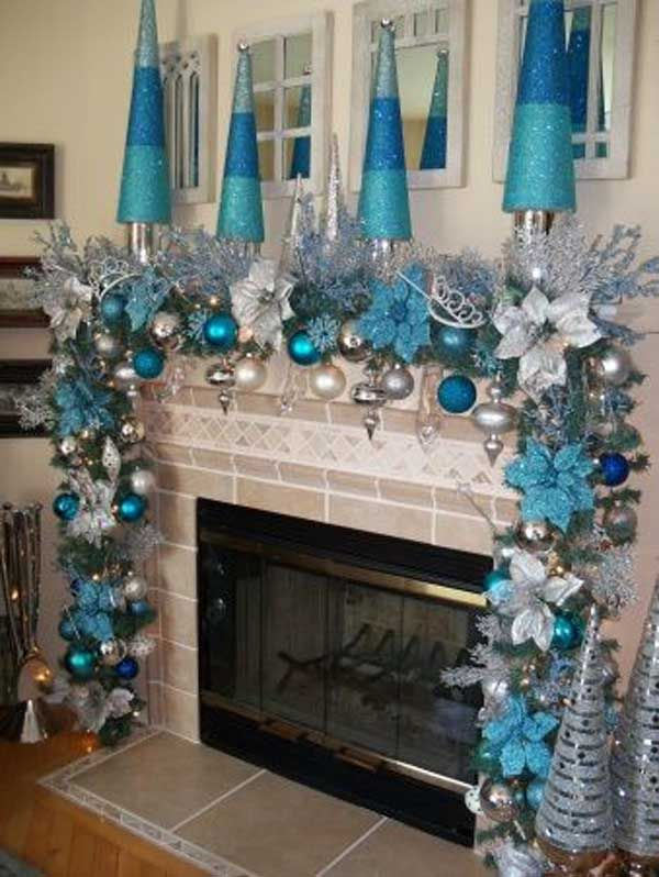 blue christmas decorating ideas christmas celebrations - Frozen Christmas Tree Ornaments
