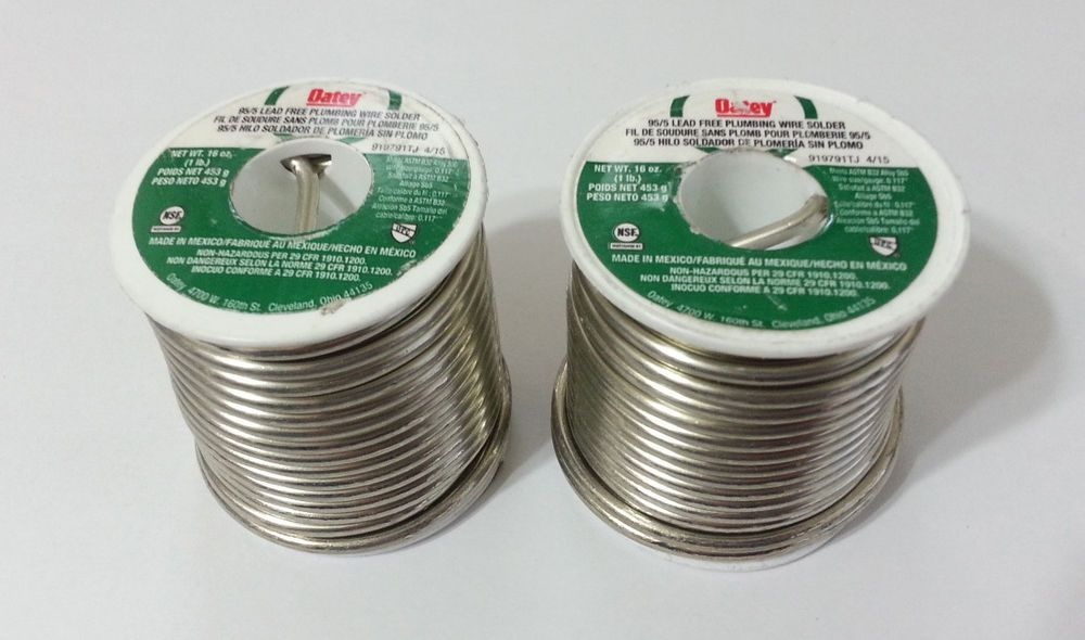 1LB OATEY Lead Free Plumbing Wire Solder