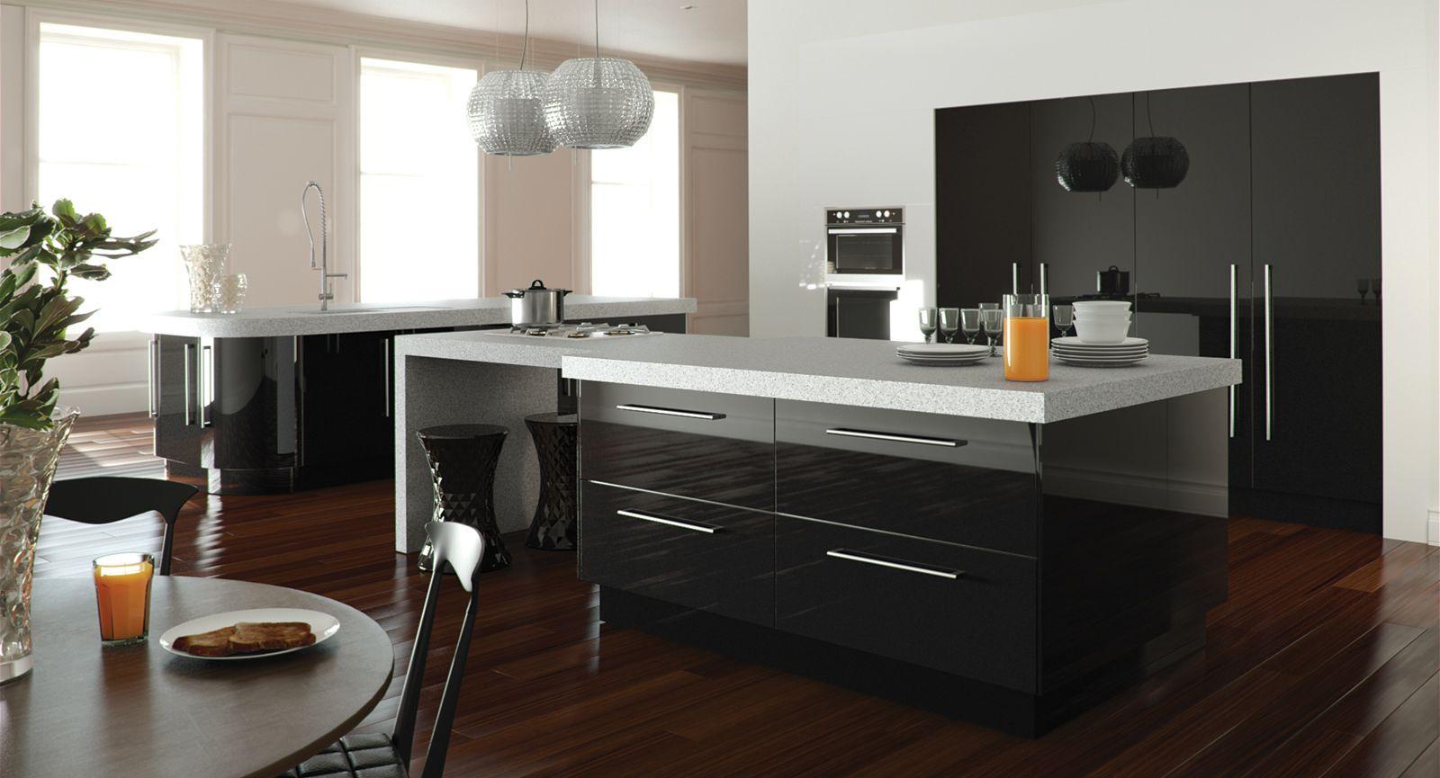 Black Gloss Kitchen Black Gloss Kitchen Pictures House Decor