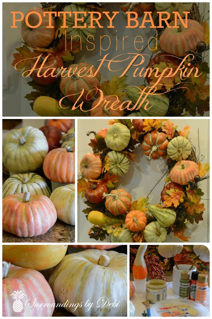 Thursday Favorite Things Blog Hop No 208 Pumpkin Wreath Pottery Barn Inspired Fall Projects
