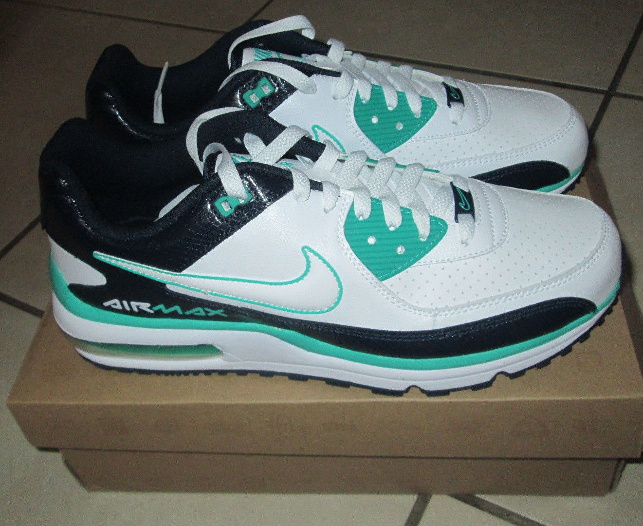 Nike Air Max Wright Size 10.5 Mens Shoes 317551-134 White/Teal