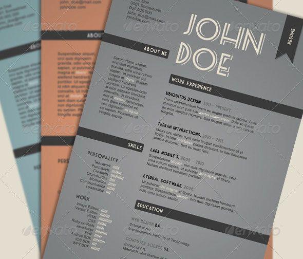 Vintage Style Resume Resume Design Template Resume Template Professional Creative Resume