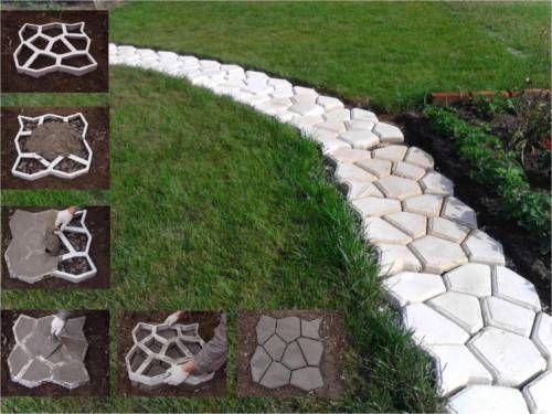 Dalle 60 X 60 X 6 En Beton A 2 80 Facile Avec Ce Moule Reutilisable Pas Japon Dalle Jardin Bordure Jardin Deco Jardin