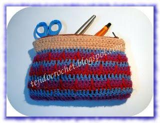 Moda a Crochet: Cartuchera tejida a crochet