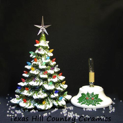 Tabletop Ceramic Christmas Tree Snow Tipped Branches 16 Inch Tall Vintage Ceramic Christmas Tree Ceramic Christmas Trees Christmas Decorations