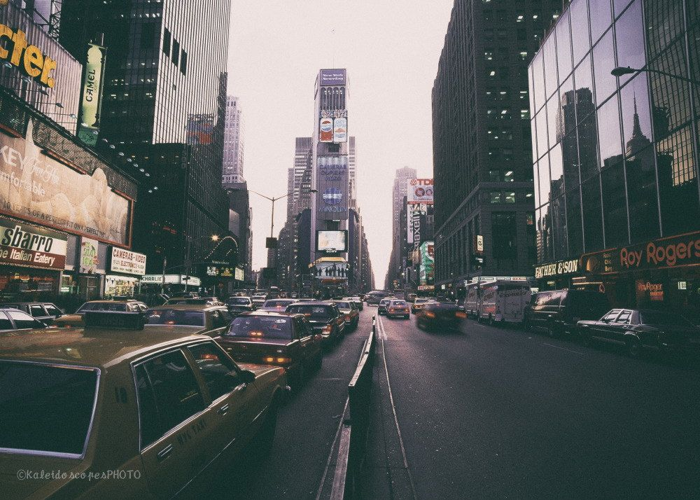 Times Square photography,original art print New York photo NYC picture Manhattan wall art Broadway artwork Yellow Cab print décor film by KaleidoscopesPHOTO2 on Etsy
