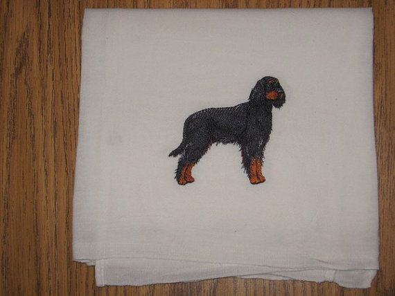 Machine Embroidered Gordon Setter Flour by CraftsbyJeanJanisch, $6.50