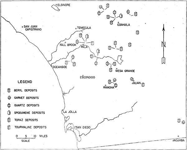 Rockhounding California Map.Southern California Gem Map Rockhounding Lapidary Pinterest