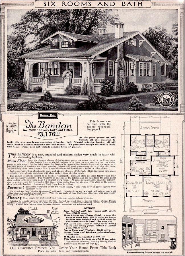 The Bandon 1923 Sears Roebuck Modern Homes Vintage House Plans Craftsman House Craftsman Style Homes