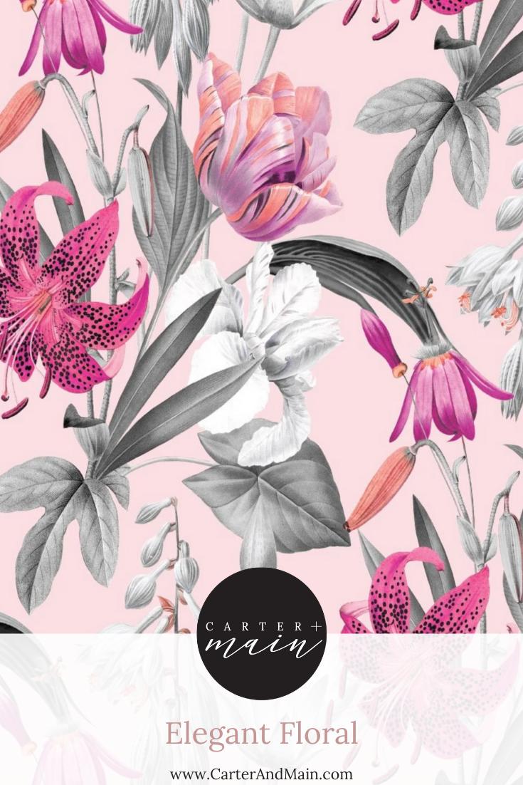Elegant Floral Floral Peel And Stick Wallpaper Bright Florals
