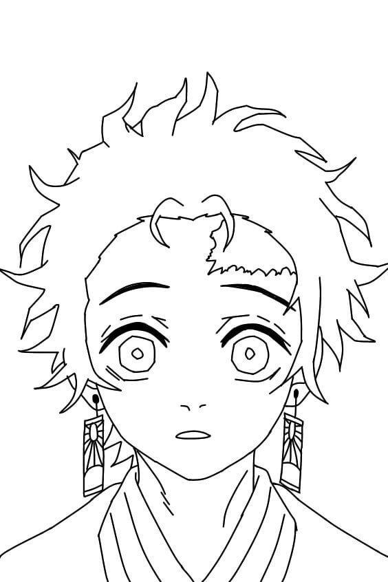 Printable Tanjiro Kamado Coloring Pages - Anime Coloring Pages - Coloring Home Pages