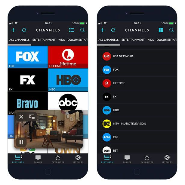 Download iPlayTV on iOS 12 to watch live TV channels free.
