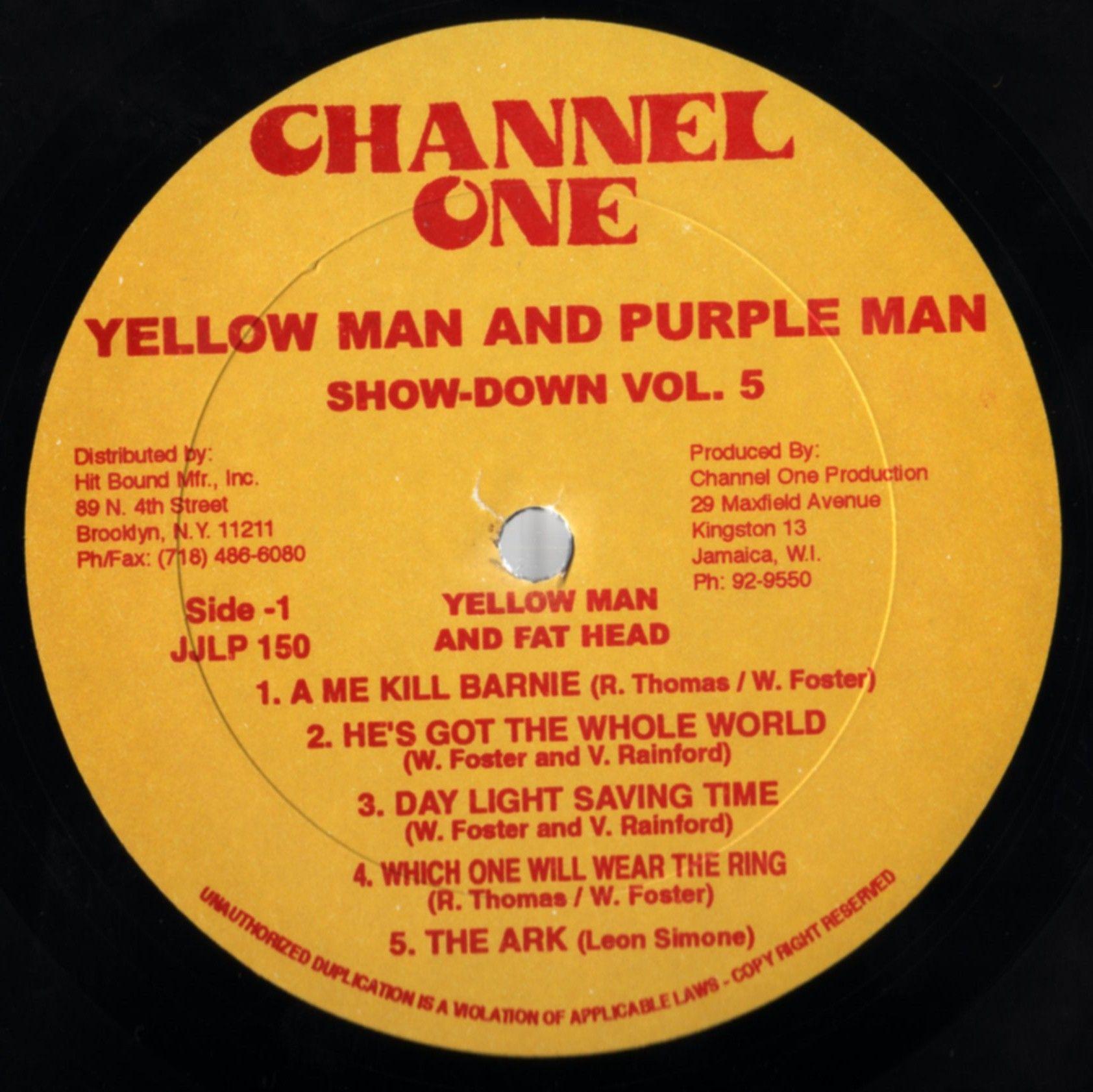 Yellowman & Purplemen - Show-Down Vol. 5 (Label)