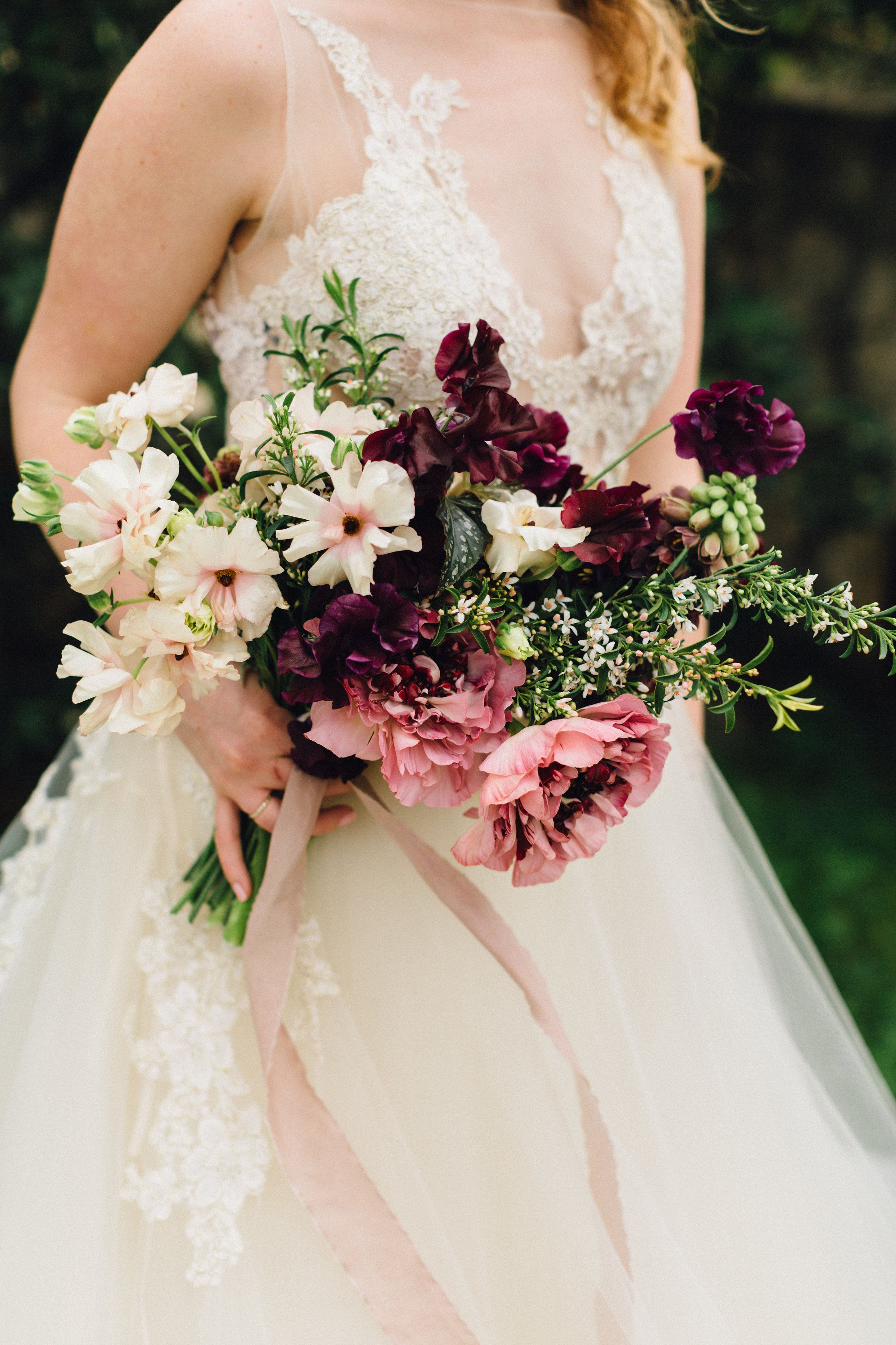 The greenhouse collective - Floral By Color Theory Collective Romantic Bouquet In Shades Of Plum Pink Mauve