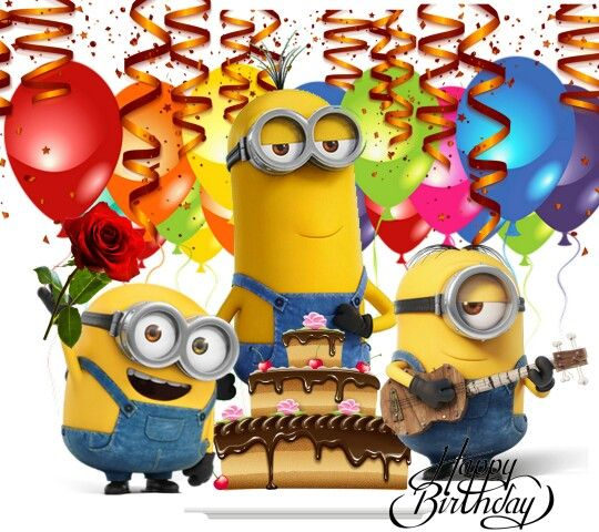 Pin by Hannibal Lee on Minions   Happy birthday minions ...