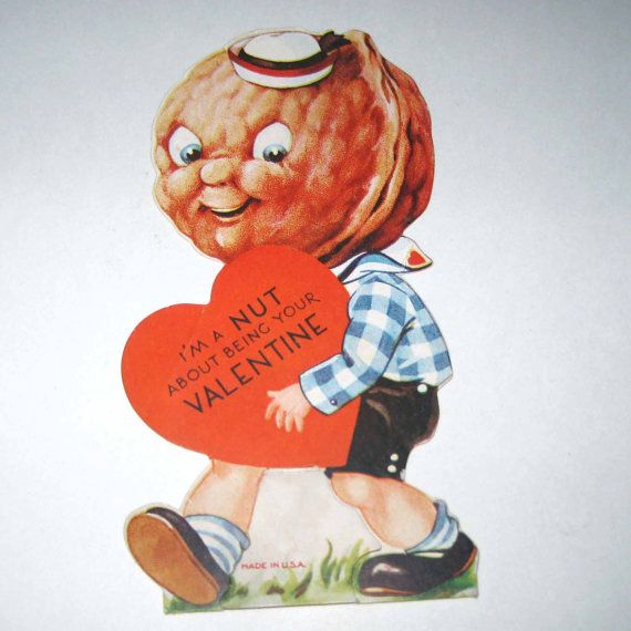 Vintage Valentine Greeting Card with Adorable by grandmothersattic, $5.95