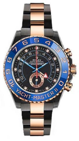9d3ee2be9f2 Rolex Yacht-Master II 116681 Custom DLC PVD Stainless Steel