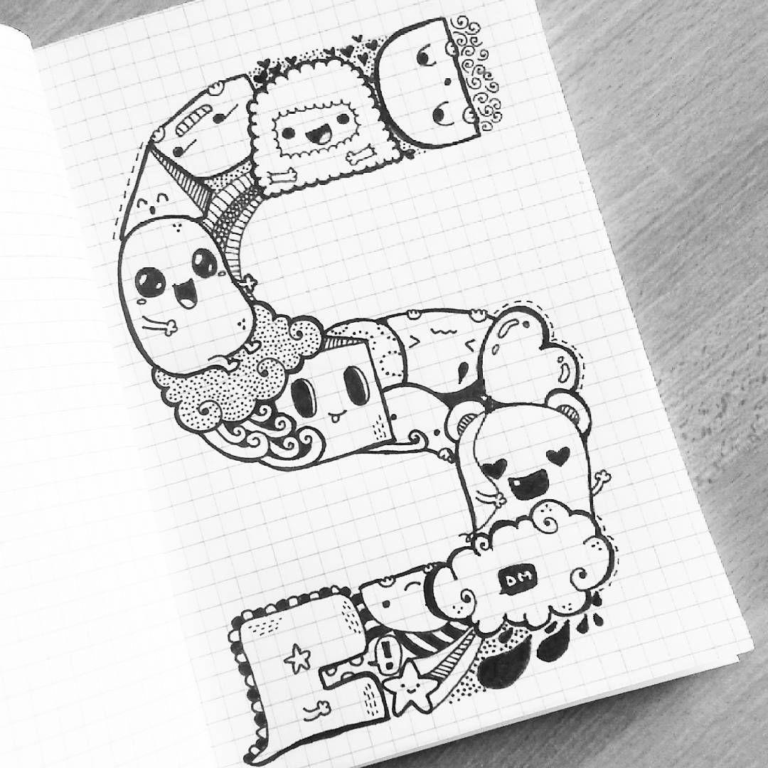 S... Initial of my name #doodle #doodling #kawaii #family ...