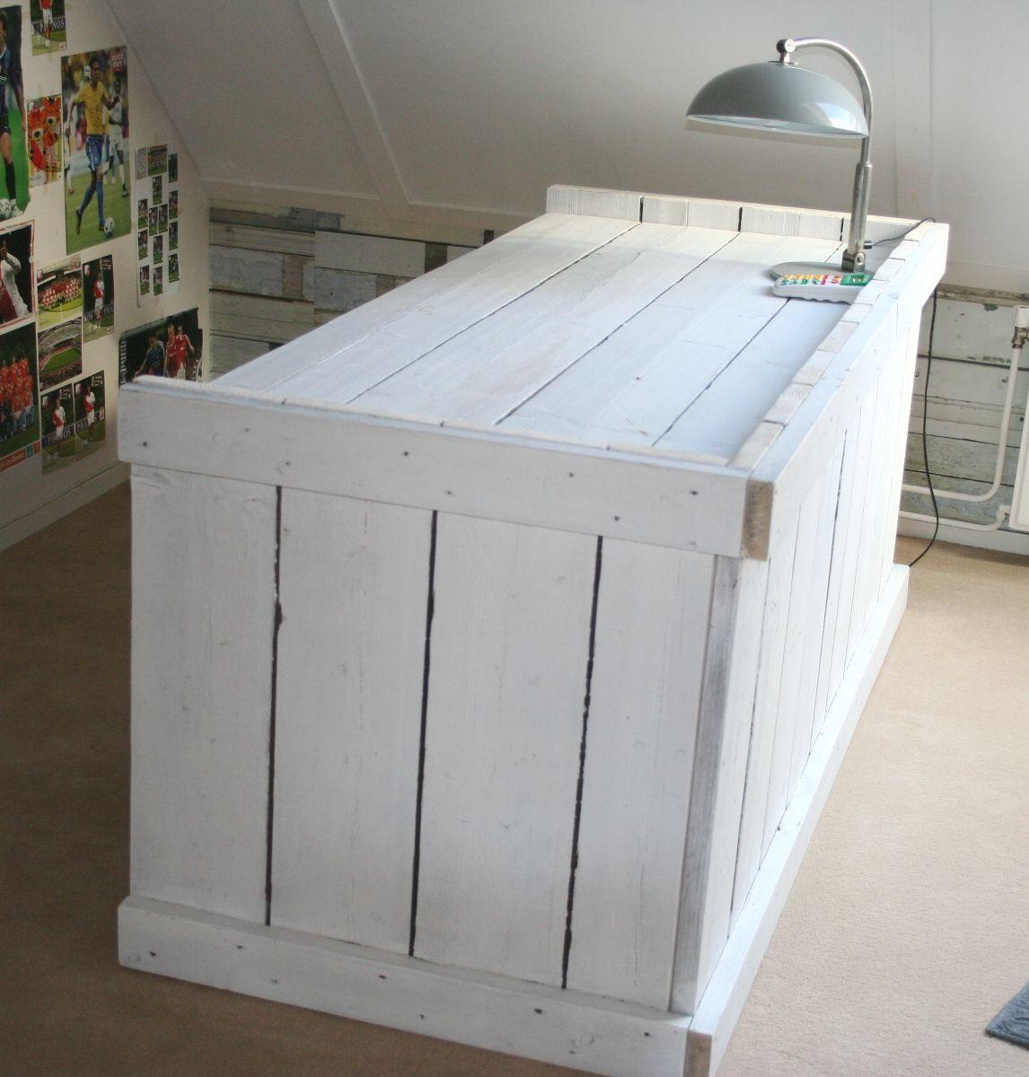 Bureau Wit Met Hout.Bureau Steigerhout Xl Wit For The Home Houten Meubels Bureau En