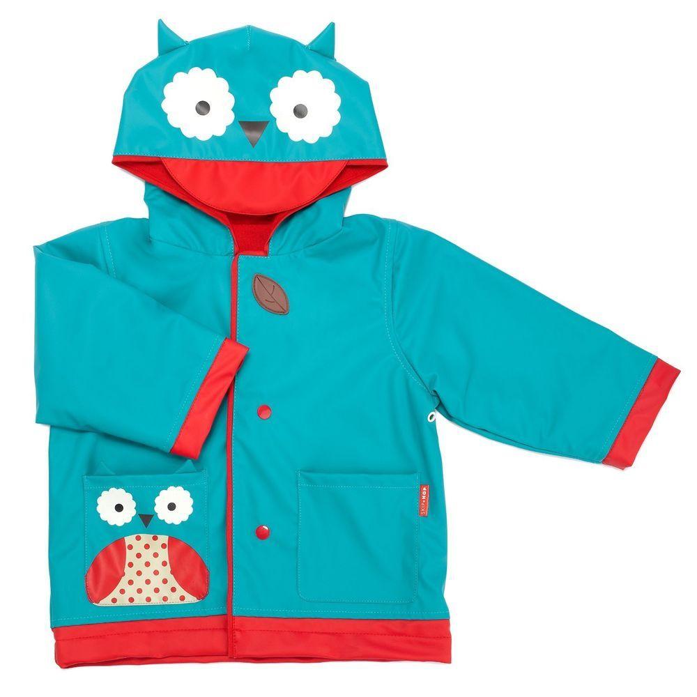 a3421c2f6 Toddler Raincoat Jacket Outdoor Animals Owl Ladybug Monkey Coat Rain ...