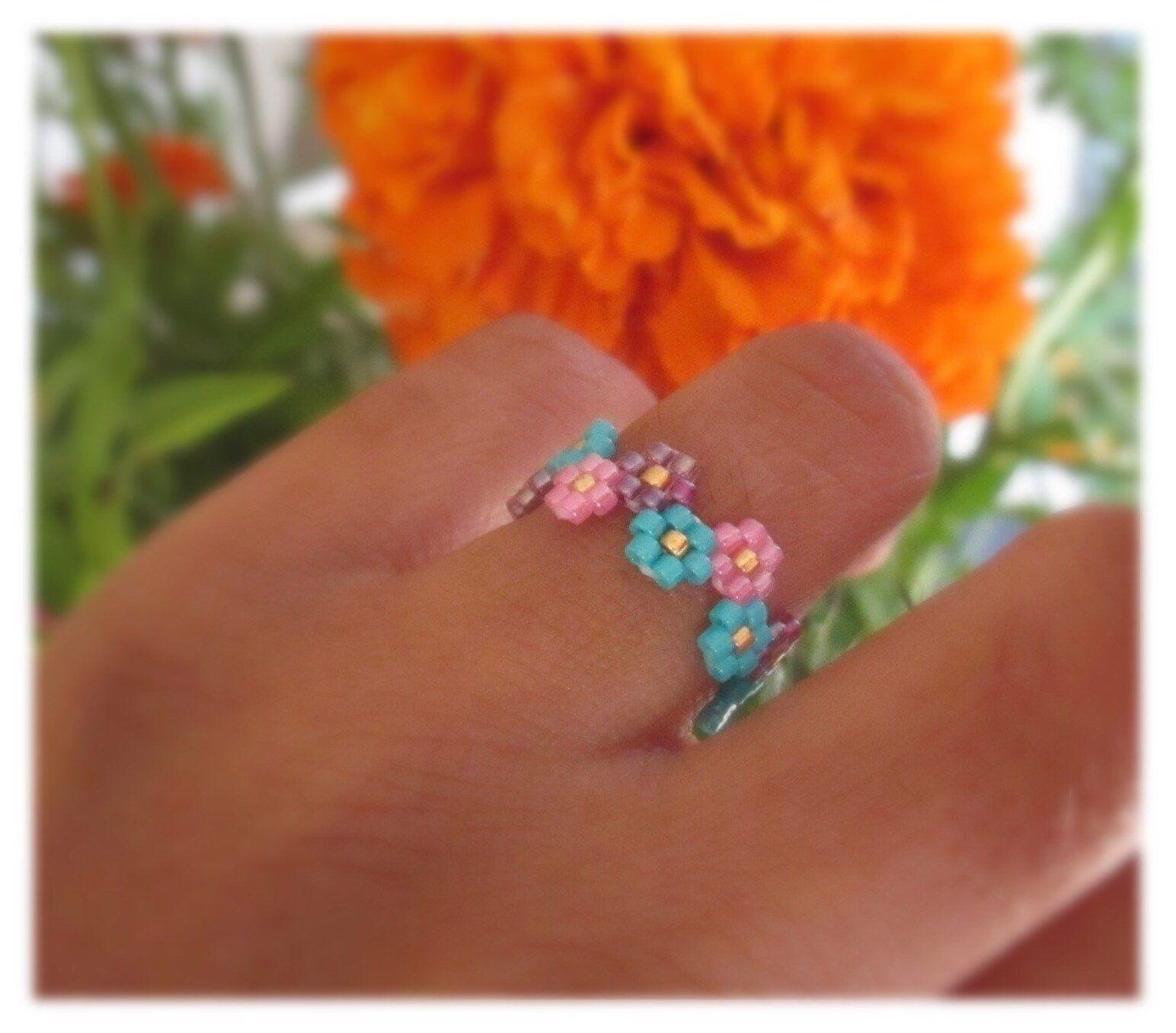 Beaded Ring Handmade Ring Miyuki Ring Handcrafted Ring Etsy Beaded Bracelets Diy Miyuki Ring Beaded Jewelry Patterns