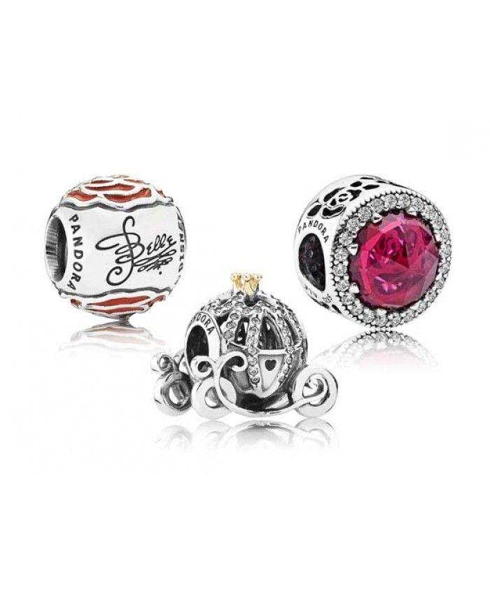 Pandora Disney Cinderella and Belle Gift Set | Pandora charms ...